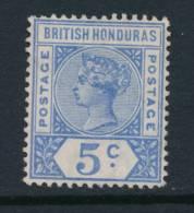 BRITISH HONDURAS, 1891 5c Ultramarine Unused No Gum, Cat £12 - Brits-Honduras (...-1970)