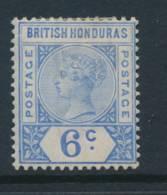 BRITISH HONDURAS, 1891 6c Fine Light MM, Cat £15 - Brits-Honduras (...-1970)