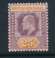 BRITISH HONDURAS, 1904 25c  Fine MM, Cat £12 - Brits-Honduras (...-1970)