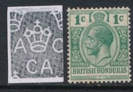 BRITISH HONDURAS, 1912 1c Blue-green Superb MM, Cat £7 - Brits-Honduras (...-1970)