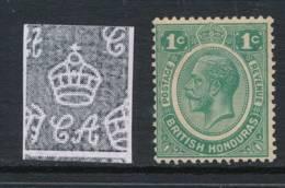 BRITISH HONDURAS, 1922 1c Green Superb MM, Cat £20 - Brits-Honduras (...-1970)