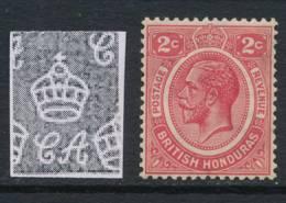 BRITISH HONDURAS, 1922 2c Carmine Superb MM, Cat £12 - Brits-Honduras (...-1970)