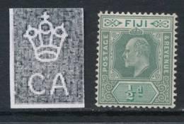 FIJI, 1903 ½d Green & Pale Green Superb MM, SG104 - Fiji (...-1970)