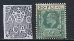 FIJI, 1906 ½d Green Fine Light MM, SG118, Cat £12 - Fiji (...-1970)