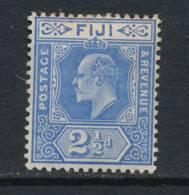 FIJI, 1906 2½d Ultramarine Fine Light MM, Cat £7 - Fiji (...-1970)