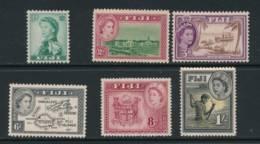 FIJI, 1954 To 1/- Fine MM, Cat £21 - Fiji (...-1970)