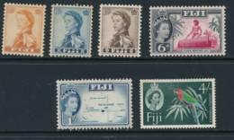 FIJI, 1959 (wmk Script CA) To 4/- Fine MM, Cat £17 - Fiji (...-1970)