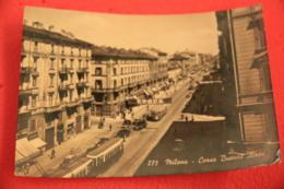 Milano Corso Buenos Aires 1952 + Timbro Targhetta Arena Verona  XXX Stagione + Tram - Altre Città