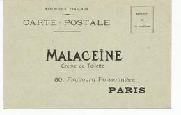 Datant D'octobre 1911, CP  MALACEÏNE Crème De Toilette à Paris, Pour Demander Une Série De Cartes Parfumées - Pubblicitari