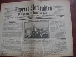 Journal Eupenois : EUPENER NACHRICHTEN   6 November 1913  Zum Besuch König Alberts Von Belgien In Deutschland - Revues & Journaux