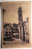 LIGURIA - GENOVA - ROSSIGLIONE SUPERIORE LA PIAZZA E LA PARROCCHIA S.CATERINA Formato Piccolo - Viaggiata Nel 1947 - Tra - Genova (Genoa)