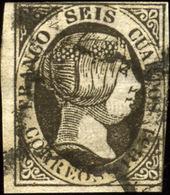 España Nº 6. Año 1851 - 1850-68 Reino: Isabel II