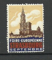 FRANKREICH France Foire Europeenne Strasbourg Vignette MNH - Advertising