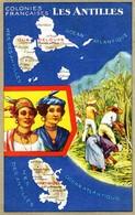 Carte LIon Noir Colonies Françaises Les ANTILLES - Publicité