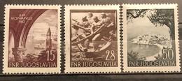 Yugoslavia, 1952, Mi: 704/6 (MNH) - 1945-1992 Repubblica Socialista Federale Di Jugoslavia