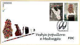 Kosovo Stamps 2017. Folk Costumes Of Medvegja, Etnology. FDC Set MNH - Kosovo
