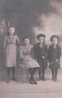 CARTE PHOTO Fait à Beausoleil Alpes Maritimes Le 28 Février 1915 Enfants En Tenue D'époque - France