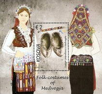Kosovo Stamps 2017. Folk Costumes Of Medvegja, Etnology. Block MNH - Kosovo