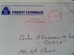 Lettre Crédit Lyonnais CF - Marcophilie (Lettres)