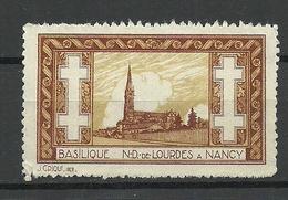 FRANKREICH France Basilique N. D. De Lourdes A Nancy Vignette (*) - Churches & Cathedrals