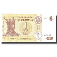 Billet, Moldova, 1 Leu, 2010, 2010, KM:8h, NEUF - Moldavie