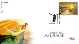 Kosovo Stamps 2017. High Diving From Fshejtë Bridge. Water Sports. FDC Set MNH - Kosovo