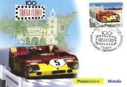 2016  Cartolina Postale Filatelica Targa Florio 100.+4 - F.D.C.