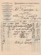 Facture 1945 / JOB Dominique / Manufacture Articles Bois Buis Jouets Tabatières / Usine Villars D'Hériat Et Moirans / 39 - 1800 – 1899