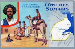 Carte LIon Noir Colonies Françaises CÔTE Des SOMALIS - Publicité