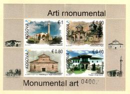 Kosovo Stamps 2017. Monumental Art, Religious. Set Sheet MNH - Kosovo