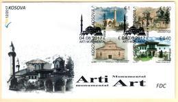 Kosovo Stamps 2017. Monumental Art, Religious. FDC Set Sheet MNH - Kosovo