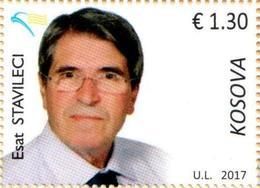 Kosovo Stamps 2017. National Personalities: Esat Stavileci. Set MNH - Kosovo