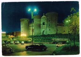 V3674 Napoli - Maschio Angioino - Auto Cars Voitures Bus Autobus Notturno Notte Nuit Night Nacht Noche / Viaggiata 1971 - Napoli