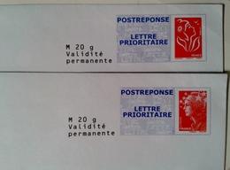 POSTREPONSE Damart  Lot De 2 Enveloppes - Entiers Postaux