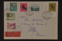 1954 Expres Brief Nach Pully PJ Und PP Frankatur - Pro Juventute