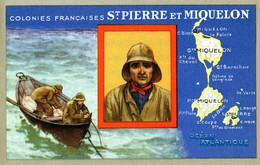 Carte LIon Noir Colonies Françaises St PIERRE Et MIQUELON - Publicité