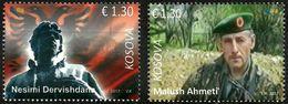 Kosovo Stamps 2017. Soldiers. Martyrs: Malush Ahmeti, Nesim Dervishdana. Set MNH - Kosovo