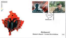 Kosovo Stamps 2017. Soldiers. Martyrs: Malush Ahmeti, Nesim Dervishdana. FDC MNH - Kosovo