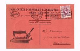 """""""Fabrication D'appareils électroniques Kalorik,Bruxelles"""". Expédié à Namur. - 1929-1937 Heraldic Lion"""