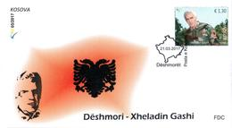 Kosovo Stamps 2017. Soldiers: Xheladin Gashi-Plaku. FDC - Kosovo