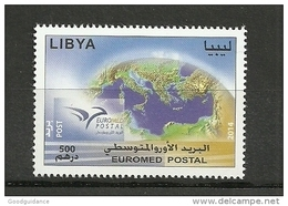 2014-Libya- Euromed Postal -Joint Issue- Complete Set MNH** - Libye