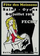 Rare // Etiquette De Vin // Fête //  Féchy, Fête Des Moissons Saint-Oyens - Etiquettes