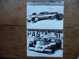 2 Photos De Presse MARK DONOHUE - PENSKE F1 - GRAND PRIX MONACO Formule 1 1975 - Automobili