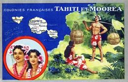 Carte LIon Noir Colonies Françaises TAHITI Et MOOREA (3) - Publicité