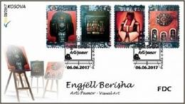 Kosovo Stamps 2017. Visual Art - Engjell Berisha. FDC MNH - Kosovo