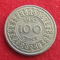 Surinam 100 Cents 1987 KM# 23 Suriname Surinão - Suriname 1975 - ...