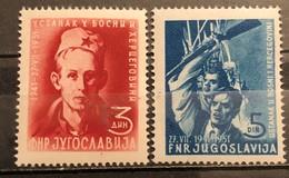 Yugoslavia, 1951, Mi: 664/65 (MNH) - 1945-1992 Repubblica Socialista Federale Di Jugoslavia