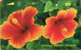Northern Mariana Islands - NMI-MT-07, Hibiscus, Northern Marianas, Flowers, 10,000ex, 10U, 12/93, Used - Mariannes