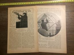 1909 DOCUMENT LES PROCHAINES EXPERIENCES DE SAUVETAGE EN MER - Vieux Papiers