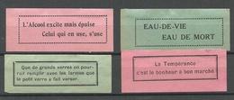 FRANKREICH France 4 Old Labels Or Vignettes * Advertising Slogans Original Gum Hinged - Erinnophilie